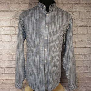 Blue and Gray Plaid Tailored Slim Fit